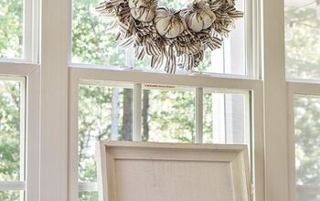 How to Make a Fabric Rag Wreath With Pumpkins