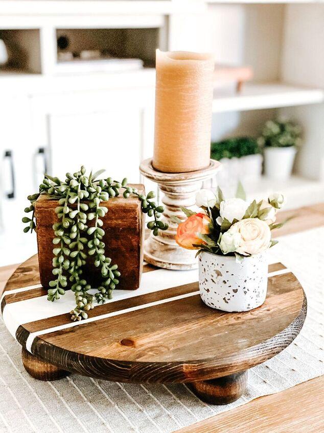 diy wood riser tray