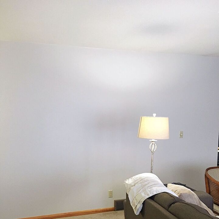 alternative way to decorate a large wall