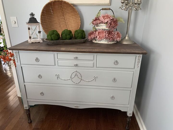 vintage sideboard from drab to fab using retique it products