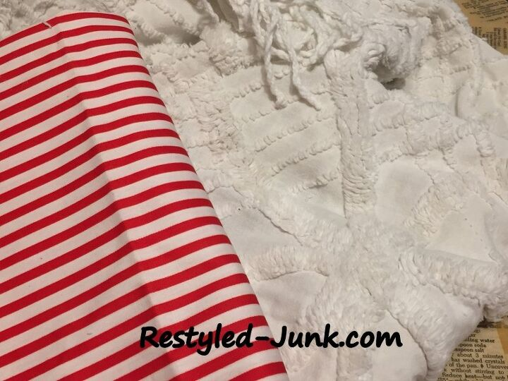 chenille bedspread candy cane