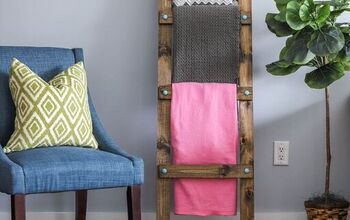 Create Vertical Storage in Your Home With This Easy to Make Ladder!