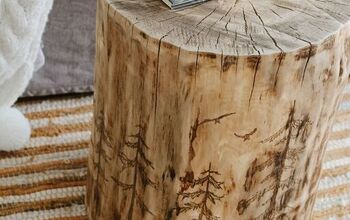 How to Make an Awesome Log Side Table