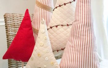 How to Make Super Cute and Easy Fabric Christmas Trees!