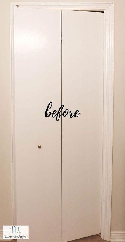 how to convert bifold doors into swinging cafe doors