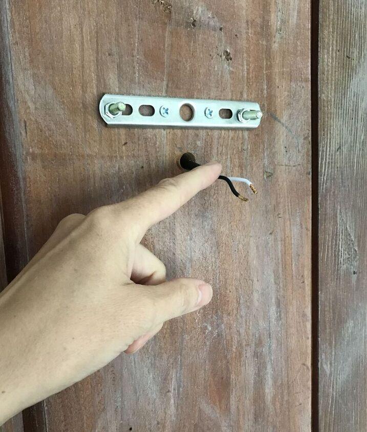 repurposed vintage doors with sconce lights