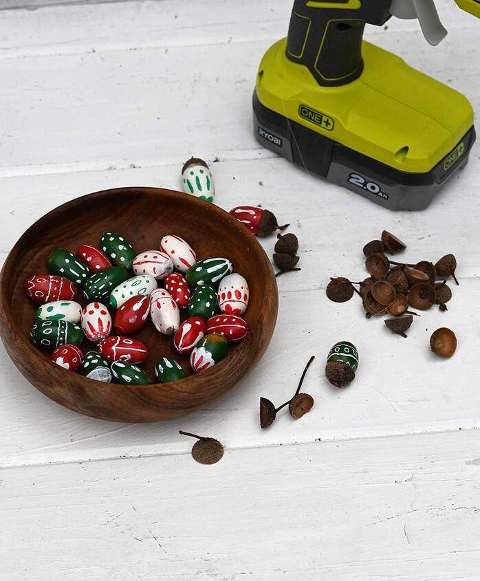 fun painted acorn garland