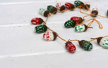 Fun Painted Acorn Garland