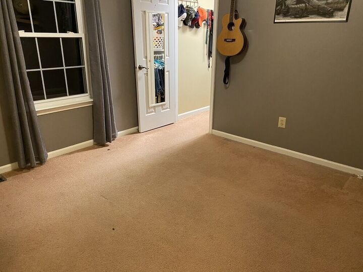 transform a bedroom from carpet to cork flooring