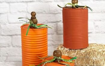 How to Create Recycled Tin Can Pumpkins for Autumn