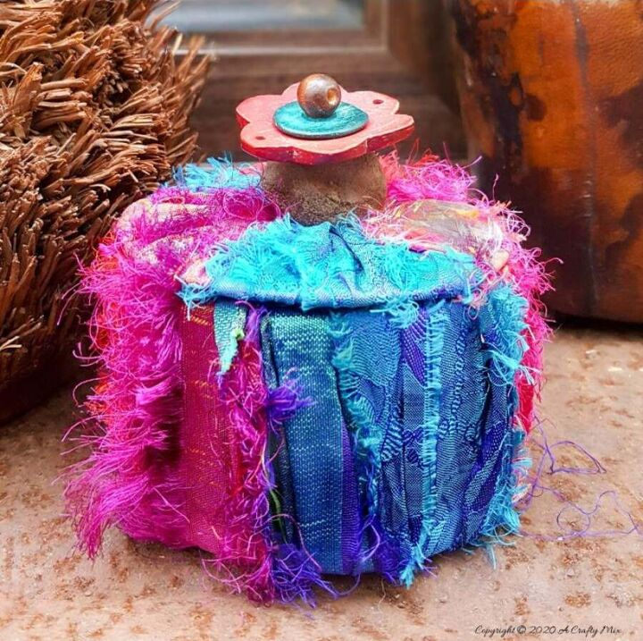 repurposed packing tape trinket box