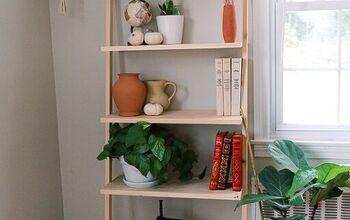 How to Make a Modern Ladder Shelf