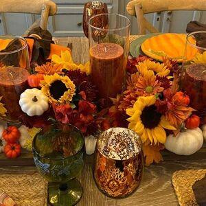 Candle-lit Thanksgiving Centerpiece