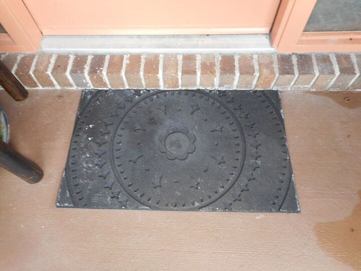 worn out doormat makeover