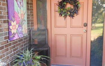Worn Out Rubber Front Door Doormat Makeover