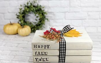 DIY Dollar Tree Book Stack for Fall