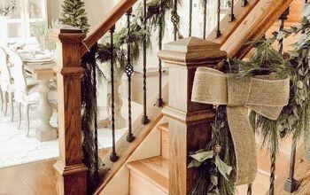 DIY Christmas Garland Using Real Branches
