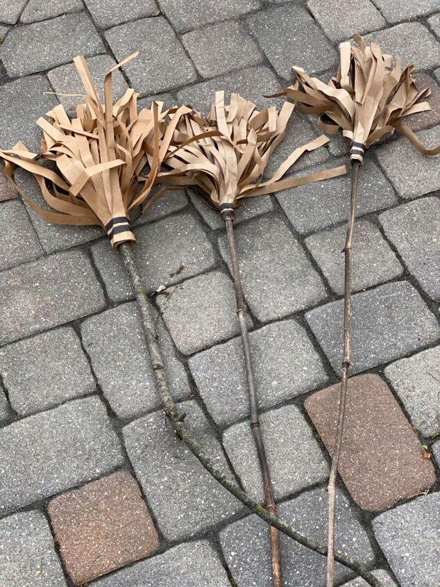 diy witch broom props