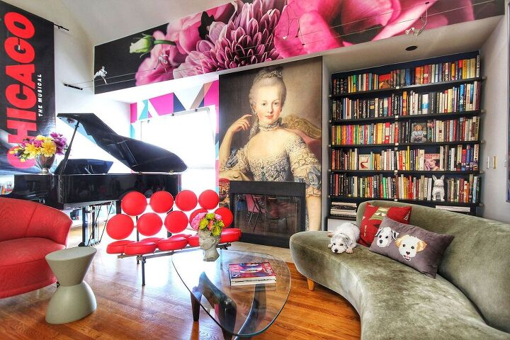 living room makeover with peel and stick wallpaper murals