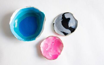 DIY Ombre Clay Bowl or Jewelry Trays For Gifts