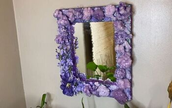 Make Your Own Unique Faux Amethyst Mirror With This Tutorial