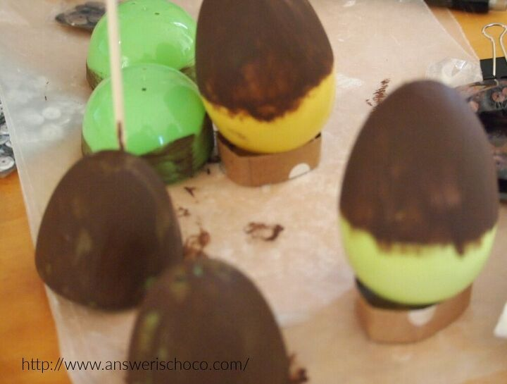 leftover plastic easter eggs make fall acorns and pinecones