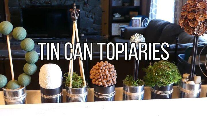 tin can topiaries