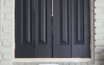 DIY Interior Shutters Made Out of Closet Doors