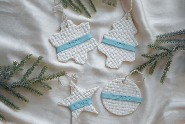 easy nordic christmas ornaments using airdry clay