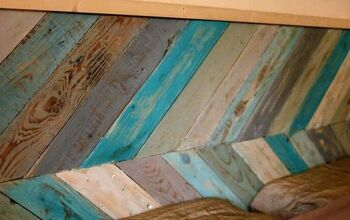 Chevron Pallet Wood Headboard