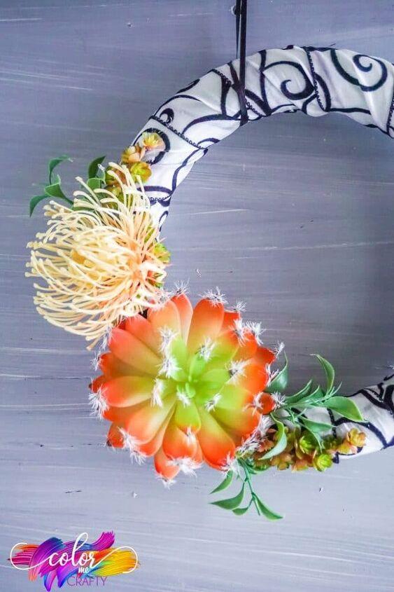 easy succulent wreath craft