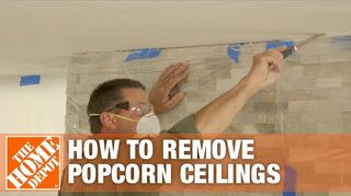 q how to remove popcorn ceiling