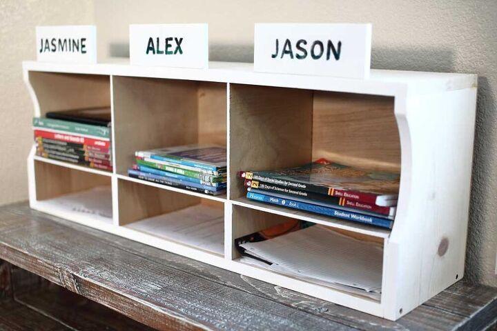 how to build a diy kids bookshelf homework station