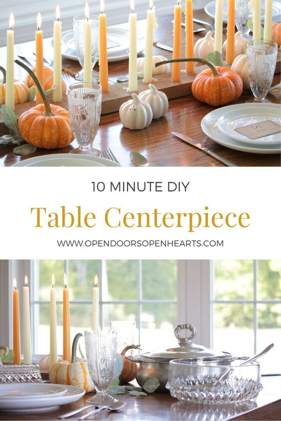 how to diy a table centerpiece in 10 minutes