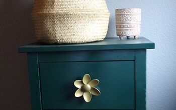 IKEA Dresser Makeover With Diy Flower Knobs