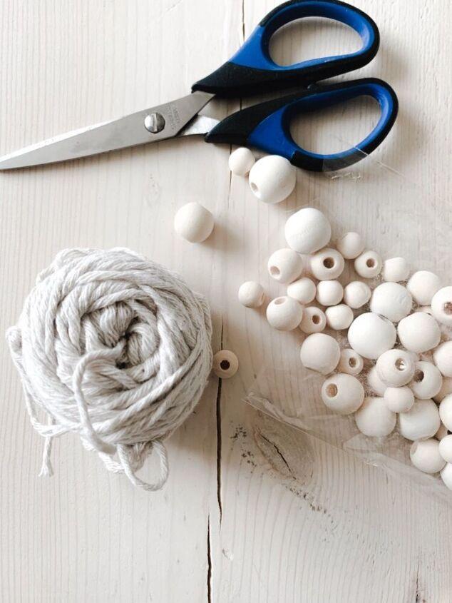 wood bead tassels