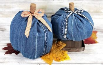 How to Create Denim Pumpkins With Recycled Jeans