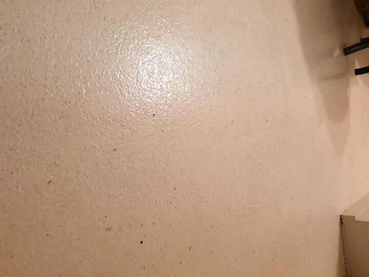 q how do i get my poured linoleum floor clean