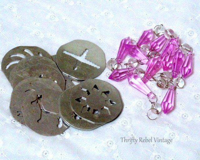 repurposed cookie press disk ornaments