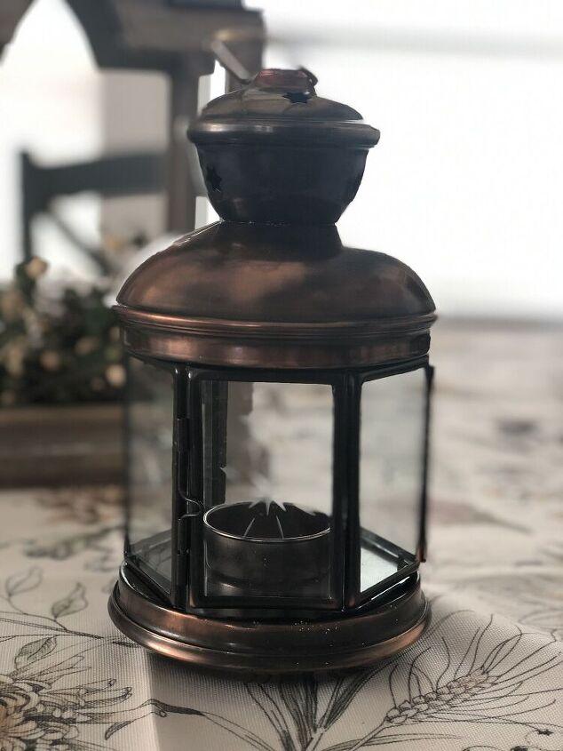 christmas faux globe lantern