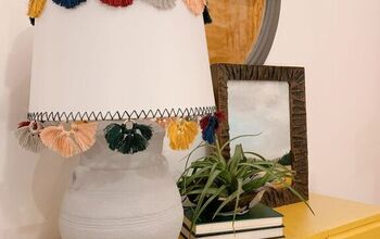 DIY Anthropologie Inspired Tasseled Lamp Shade