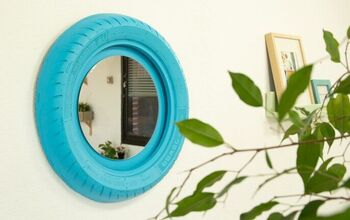 How to Make a Wall Mirror With a Tire