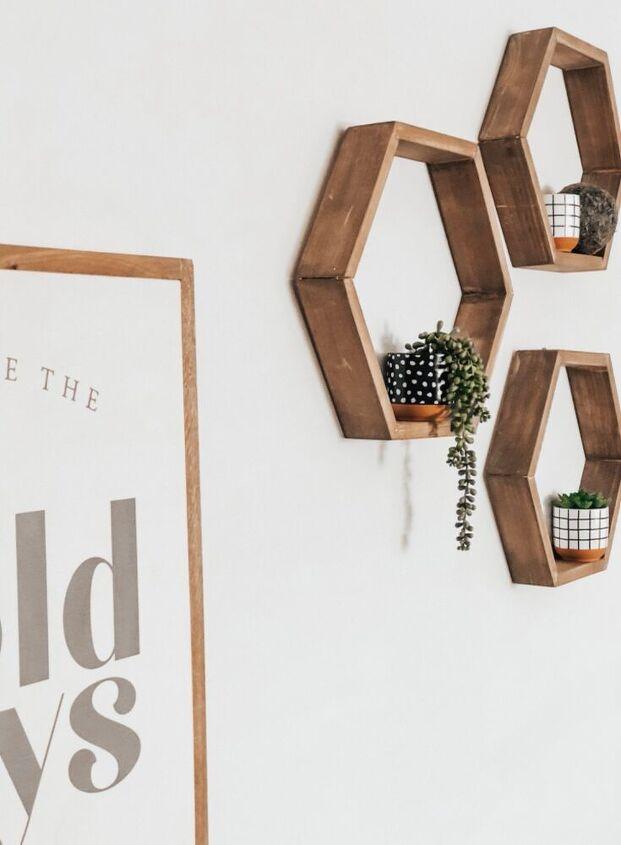 easy hexagon shelves