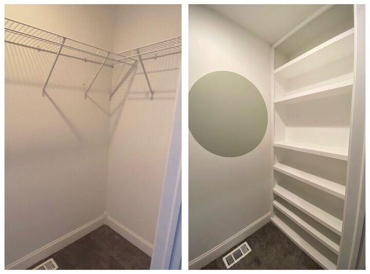 diy built ins inside of closet