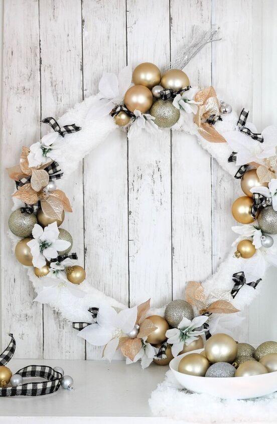 diy snowfall festive christmas wreath