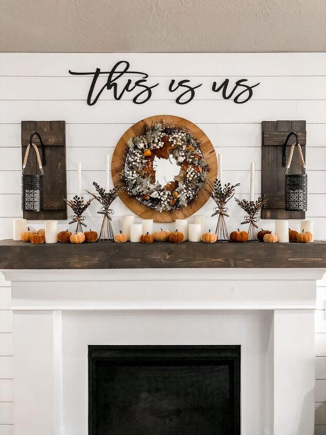 autumn mantel styling ideas