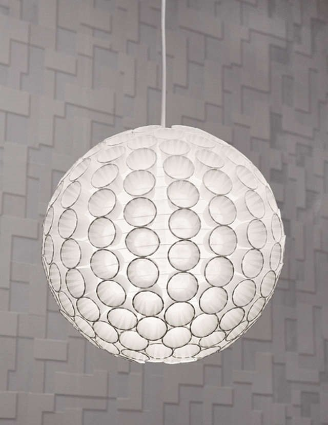 designer lamp with paper cups