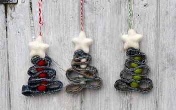 Upcycled Denim Seam Ornaments
