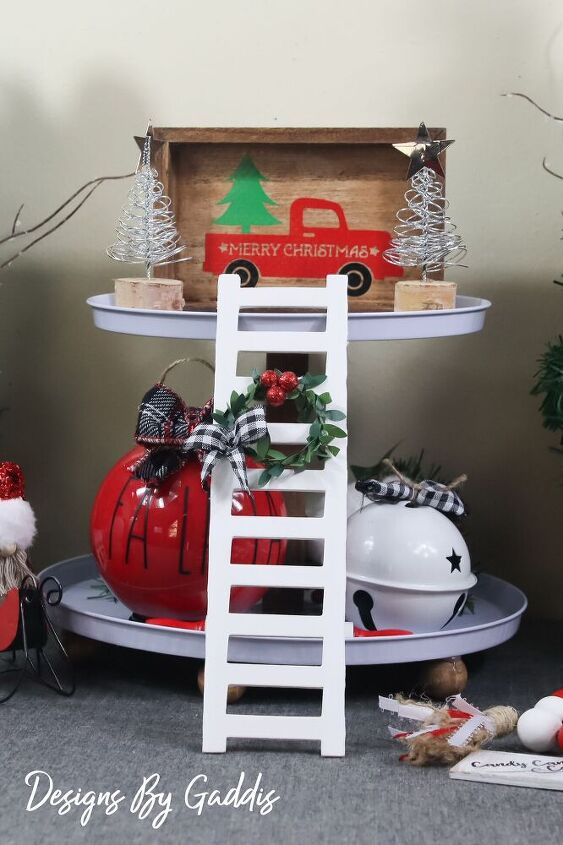 tiered tray ladder farmhouse christmas diy tiered tray decor diy