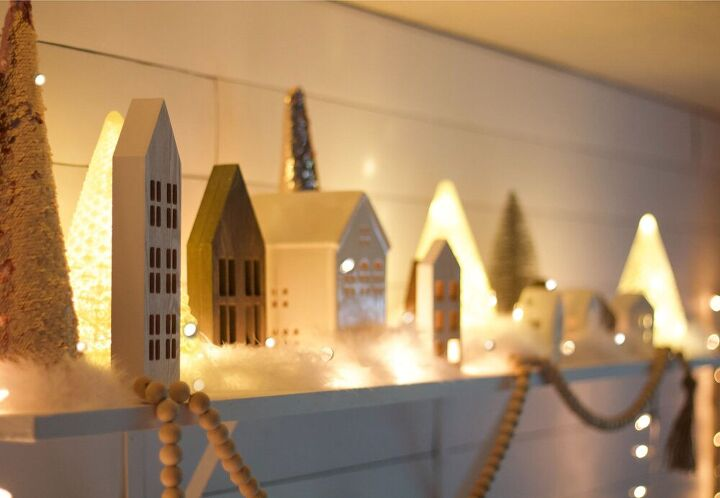 how to decorate your shelf with a christmas village